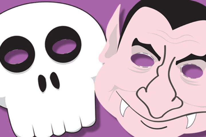 Máscaras de Halloween descargables