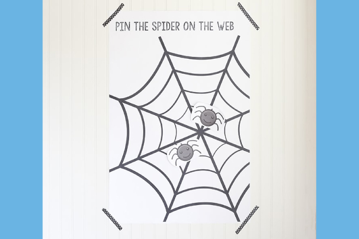 Juego de poner arañas en la red