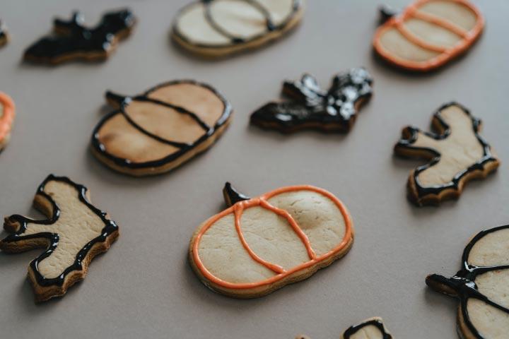 Galletas decoradas con motivos de Halloween